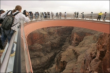 Photo of the Hualapai Indian's Grand Canyon Skywalk