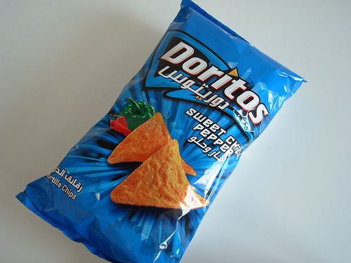 Photo of a bag of Sweet Chili Pepper Doritos from Dubai
