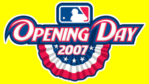Major League Baseball's Opening Day 2007 logo