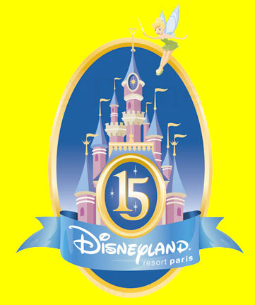Illustration of the Disneyland Resort Paris 15th anniversary logo