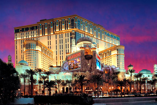 Photoillustration of Aladdin Hotel and Casino in Las Vegas