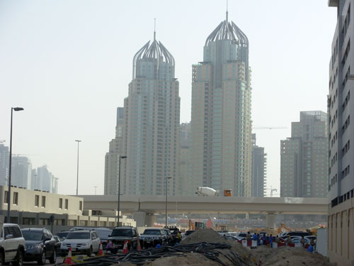 Photo of an overpass from Sheikh Zayed Road to Dubai Media City
