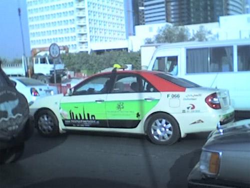 Photo of a cab in Dubai
