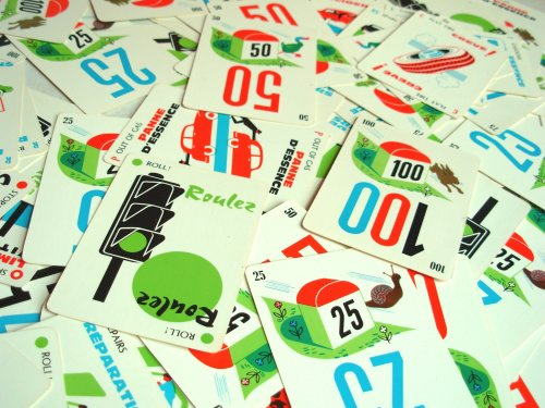 Photo of old school Mille Bornes cards