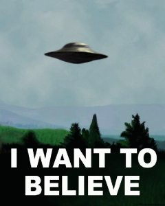 Fox Mulder's UFO Poster from the X-Files