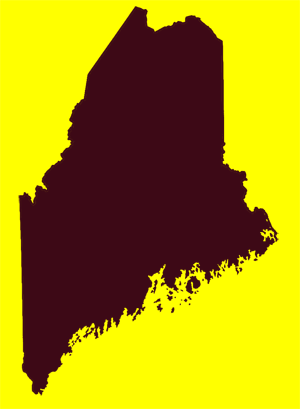 Outline of the state of Maine