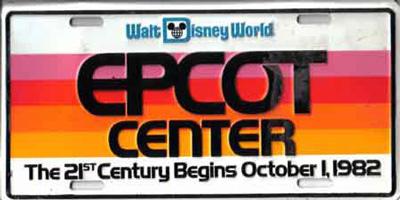 EPCOT Center license plate