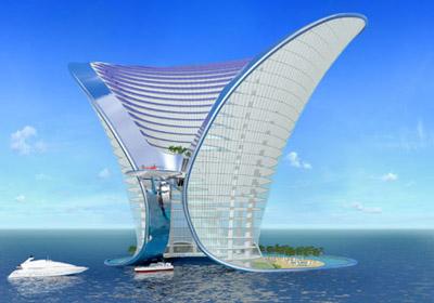 Apeiron island hotel visual development