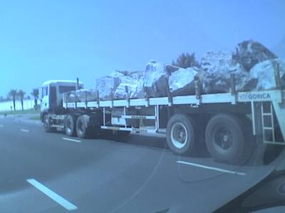 truck of rocks