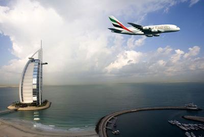 A380 and the Burj al-Arab