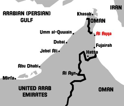 Map of Al Aqqa