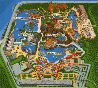Tokyo DisneySea map