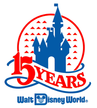 Walt Disney World 15th Anniversary logo